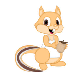 Chester Chipmunk Collects Acorns