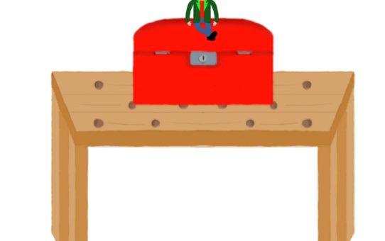 Leprechaun and tool box
