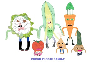 The Fresh Veggie Family