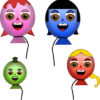Meet the Happy Balloon Family