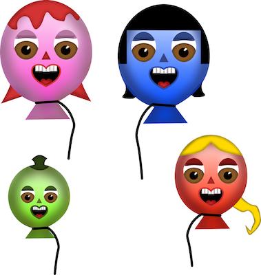 Happy Balloon Family