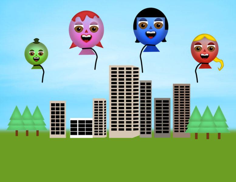 Happy Balloons Scene