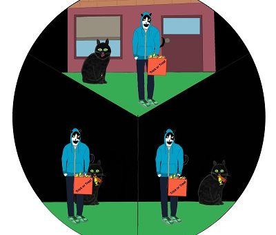 Halloween Cat Story Wheel