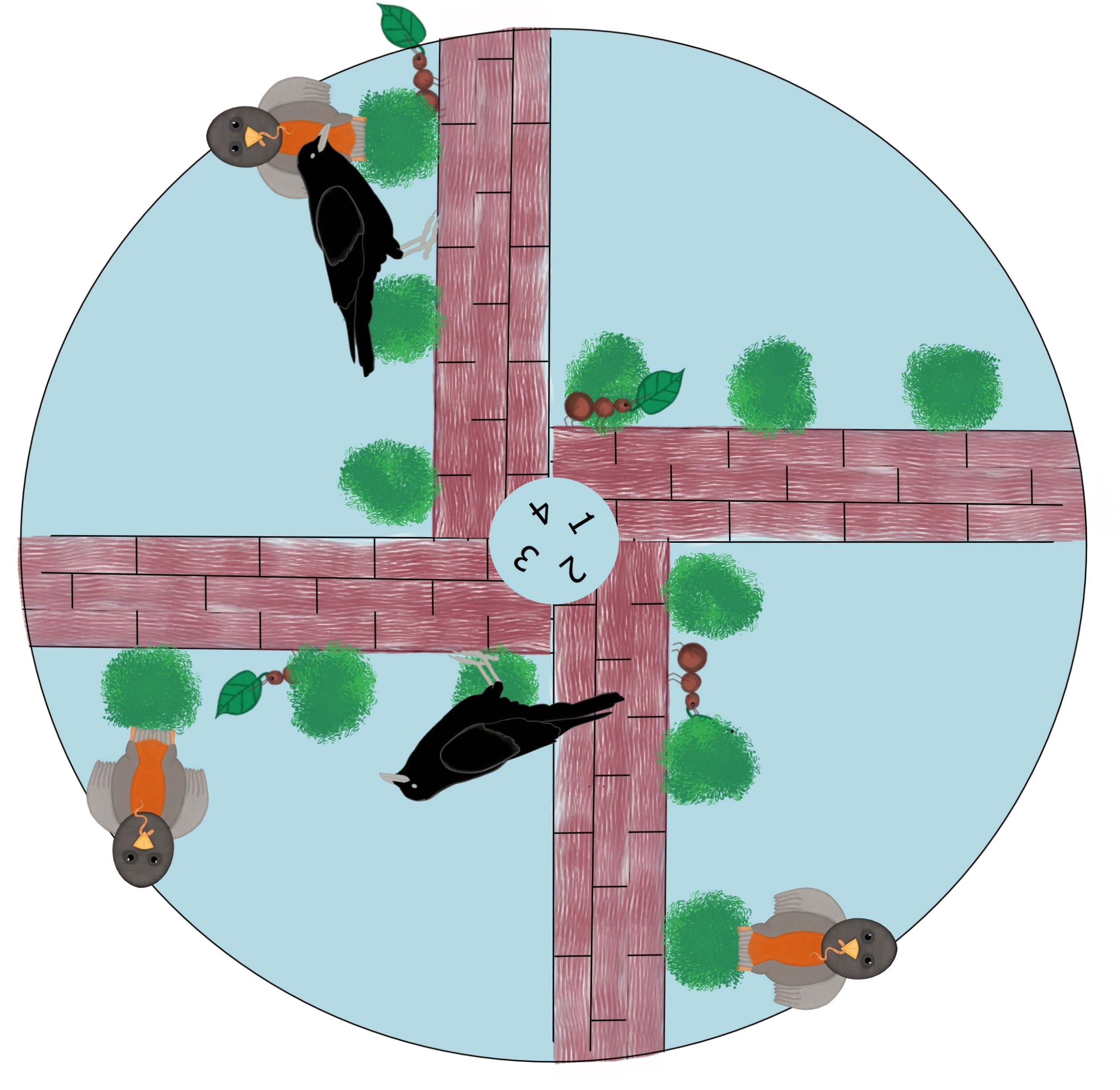 Ant and Crow Story Wheel