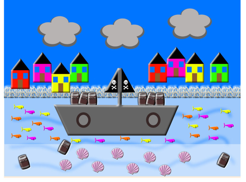Pirate Ship Background