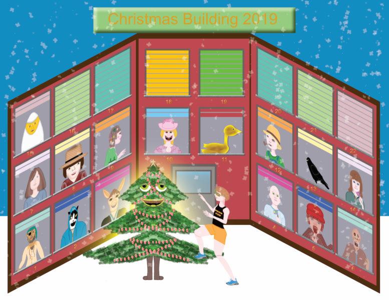 Christmas Building 2019 - Neon Cop