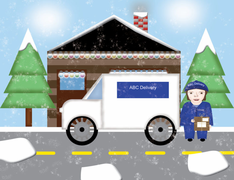 Donald the Delivery Driver Scene