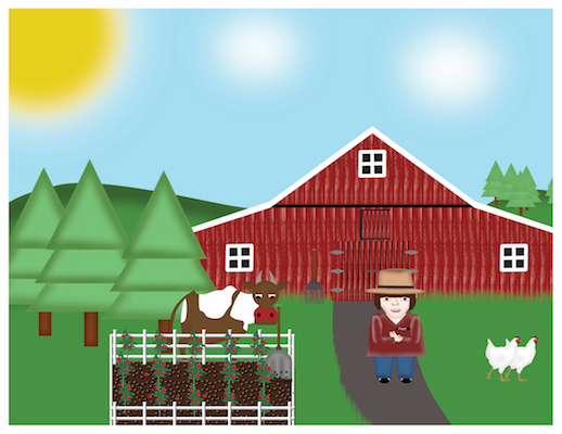 Fred the Farmer Barn Scene