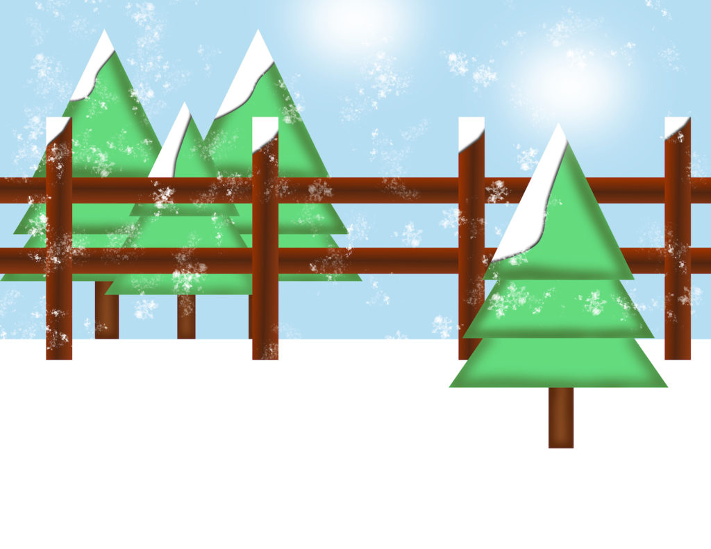 Storyland winter scene