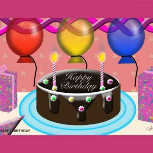 Birthday Cake Scene