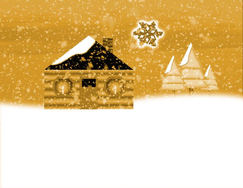 Golden Snowflake Scene