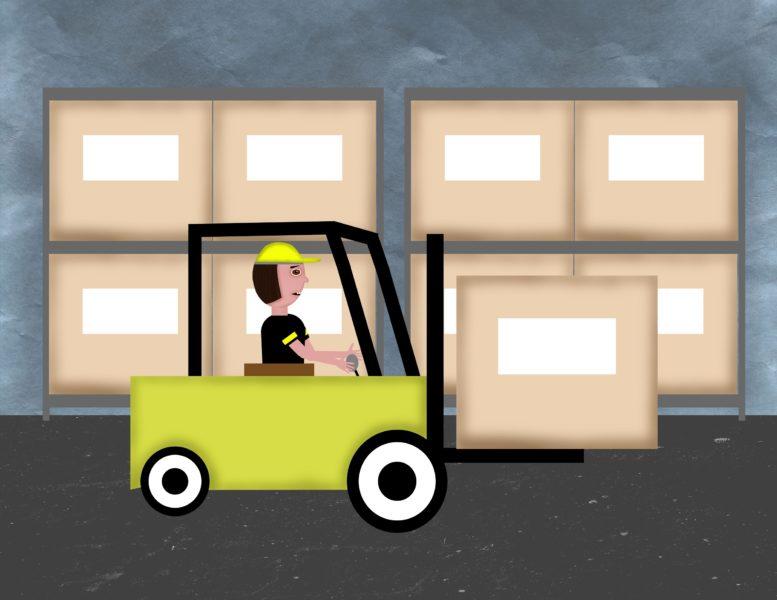 Finley the Forklift Driver Scene