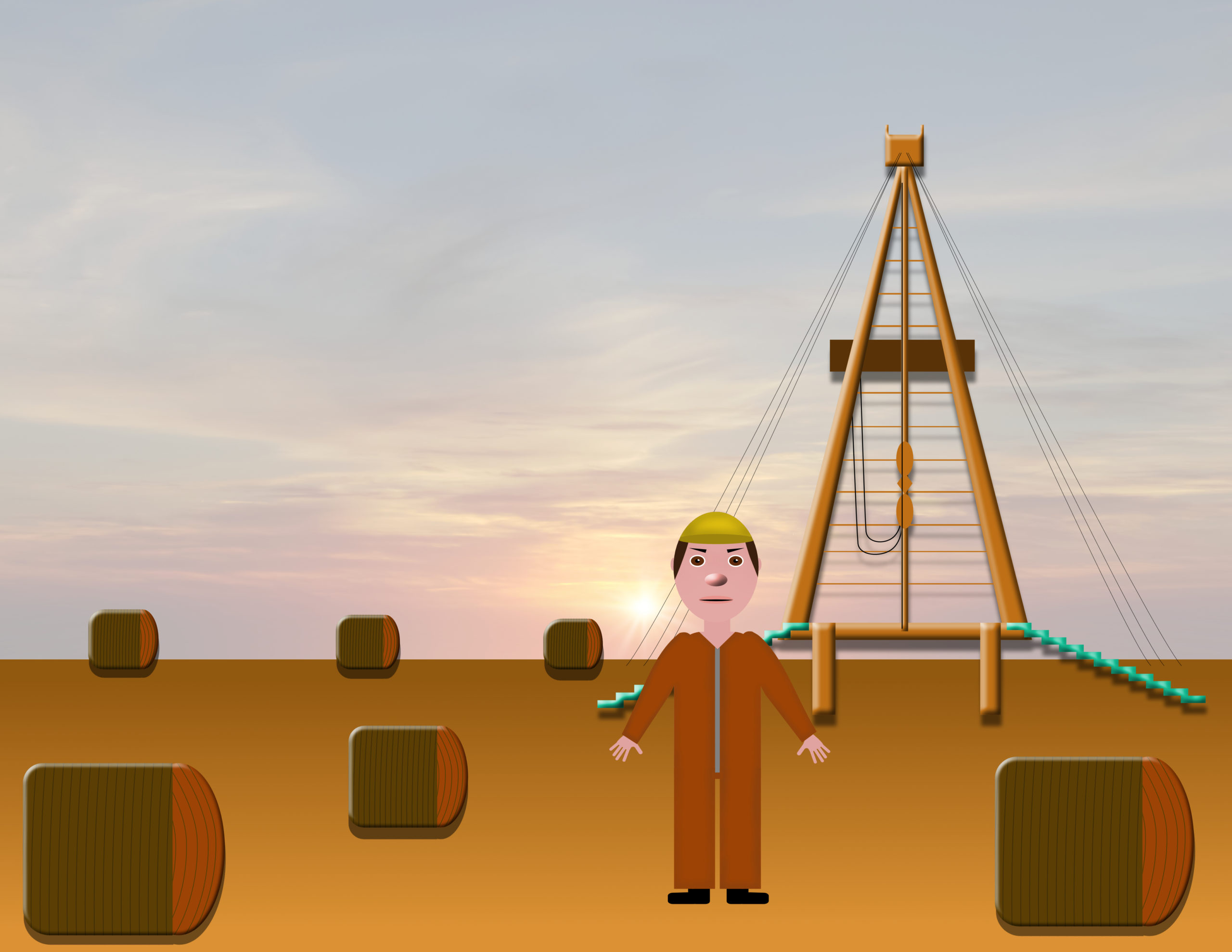 Ollie the Oil Field Worker