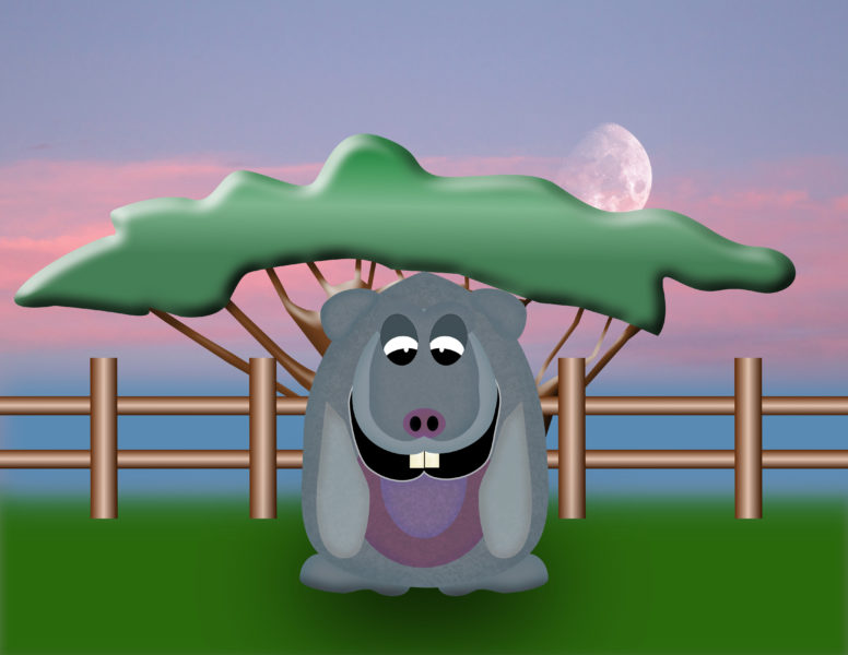 Harvey Hippo Scene